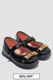 Moschino Kids Girls Black Pumps