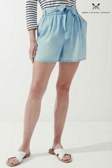Crew Clothing Company Blue Soft Pull On Shorts