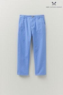 Crew Clothing Company Blue Slim Chinos