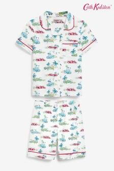 Cath Kidston Kids SS Palm Drive Woven Pyjamas