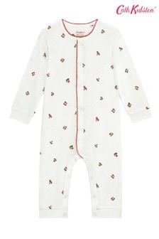 Cath Kidston White Cherries Footless Sleepsuit