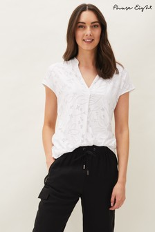 Phase Eight Cream Charleigh Floral Burnout Top