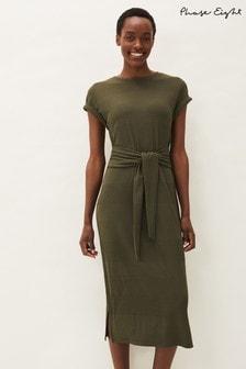 Phase Eight Green Yazmina Ribbed Jersey Dress