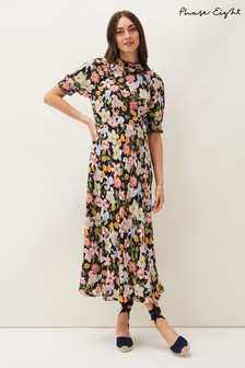 Phase Eight Multi Penelope Floral Puff Sleeve Dress