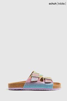 Schuh Multi Tropical Rainbow Slide Sandals