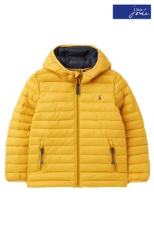 Joules Yellow Cairn Showerproof Recycled Packable Padded Jacket