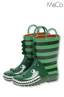 M&Co Green Dino Wellies