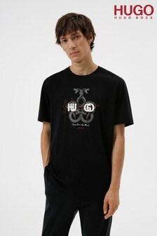 HUGO Black Snake T-Shirt