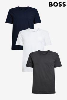 BOSS Mens Grey T-Shirts 3 Pack