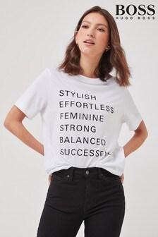 BOSS White Ecosa Print T-Shirt