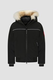 Canada Goose Kids Black Grizzly Bomber Jacket
