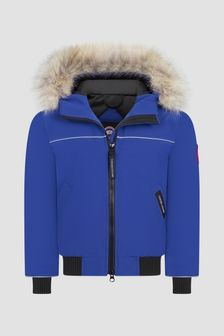 Canada Goose Kids Blue Grizzly Bomber Jacket