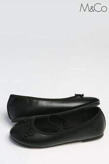 M&Co Black Ballet Pumps
