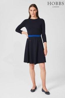 Hobbs Blue Gina Ponte Dress