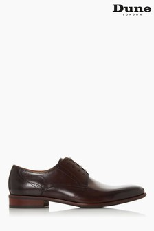 Dune London Brown Strive Punch Detail Derby Shoes