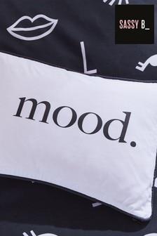 Sassy B Pink Check My Mood Reversible Cushion