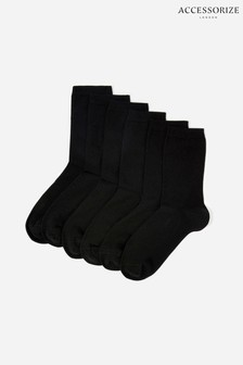 Accessorize Black Supersoft Bamboo Ankle Socks 3 Pack