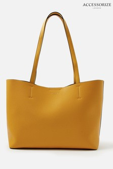 Accessorize Yellow Leo Tote Bag