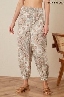 Monsoon Natural Miriam Printed Hareem Trousers