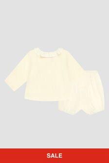 Bonpoint Baby Girls White Set