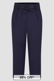 Bonpoint Girls Navy Trousers