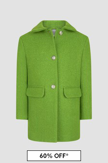 Bonpoint Girls Green Coat