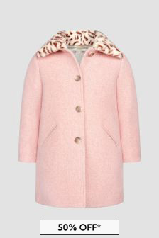 Bonpoint Girls Pink Coat