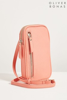 Oliver Bonas Coral Pink On The Go Cross-body Bag