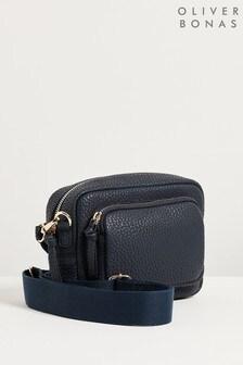 Oliver Bonas Blue Knox Pocket Camera Cross-body Bag