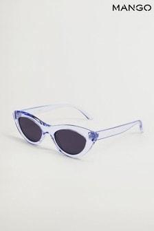 Mango Blue Cat Eye Sunglasses