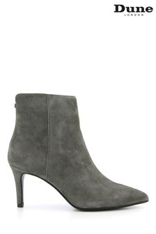 Dune London Grey Obsessive 2 Mid Heel Ankle Boots