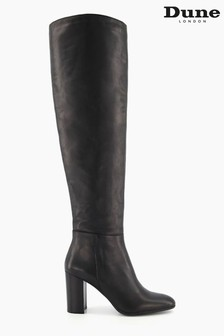 Dune London Black Selsie Over The Knee Boots