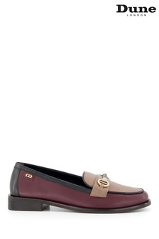 Dune London Red Glossi Colour Block Snaffle Loafers