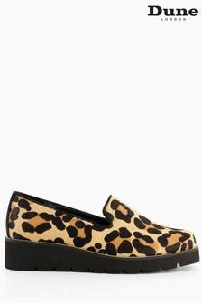 Dune London Leopard Glides Slipper Cut Flatform Shoes