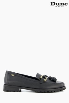 Dune London Black Goodwin Refined Cleated Loafers