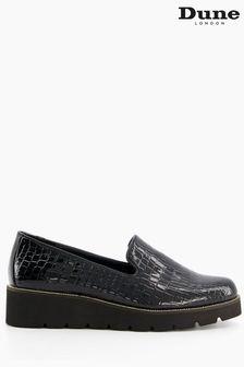 Dune London Black Glides Slipper Cut Flatform Shoes