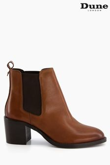 Dune London Brown Pembly Heeled Chelsea Boots