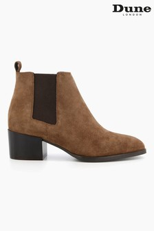 Dune London Brown Payger Casual Ankle Boots