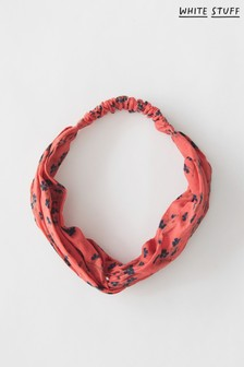 White Stuff Red Organic Cotton Twist Headband