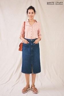 White Stuff Denim Poppy Denim Midi Skirt