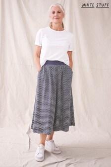 White Stuff Plum Nixie Embroidered Skirt