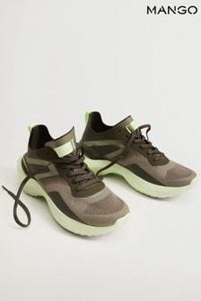 Mango Cream Shoes With Transparent Panels
