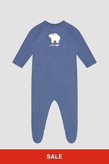 Bonpoint Baby Boys Blue Sleepsuit