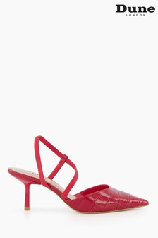 Dune London Red Colombia Asymmetric Court Shoes