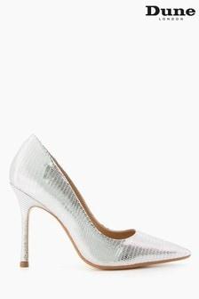 Dune London Metallic Belaire Pointed Toe Mid Heel Court Shoes