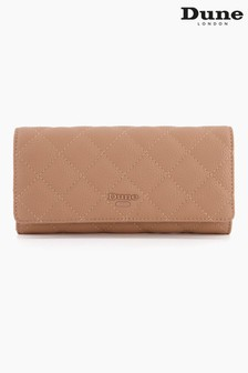 Dune London Brown Kuprees Quilted Foldover Purse