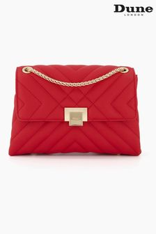 Dune London Red Dorchester Small Quilted Shoulder Bag