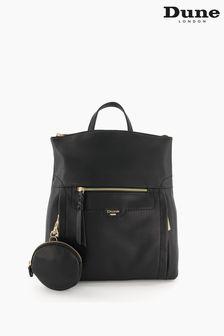 Dune London Black Dartmoor Large Stitch Detail Bag