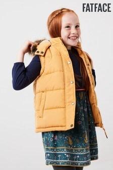 FatFace Yellow Ellie Gilet