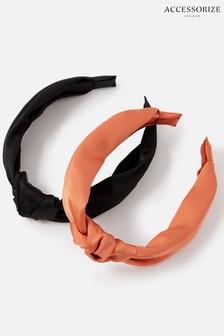 Accessorize Multi Satin Headband Twin Pack